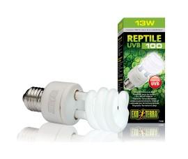 Лампа с УФ для тропических террариумов - Exo-Terra Reptile UVB100 (ex. Repti Glo 5.0) - 13 Вт - арт.: PT2186