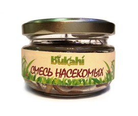 Bukahi - canned insects mix (cricket, zophobas, mealworm) / 40 g, SKU: BU-192005